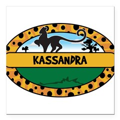 "KASSANDRA - safari Square Car Magnet 3"" x 3"""