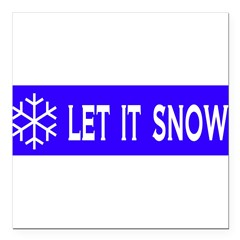 "Think Snow Square Car Magnet 3"" x 3"""