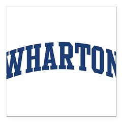 "WHARTON design (blue) Square Car Magnet 3"" x 3"""