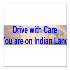 "Native American-BS Square Car Magnet 3"" x 3"""