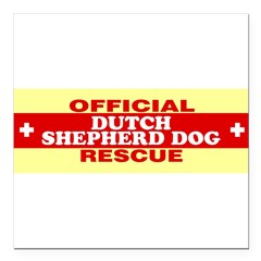 "DUTCH SHEPHERD DOG Square Car Magnet 3"" x 3"""