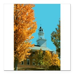"Vermont Country Church Square Car Magnet 3"" x 3"""