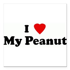 "I Love My Peanut Square Car Magnet 3"" x 3"""