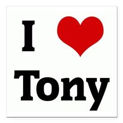"I Love Tony Square Car Magnet 3"" x 3"""