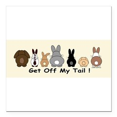 "Get Off My Tail Square Car Magnet 3"" x 3"""