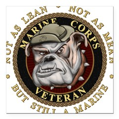 "Devil Dog Vet Square Car Magnet 3"" x 3"""