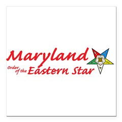 "Maryland Eastern Star Square Car Magnet 3"" x 3"""