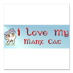 "Manx Cats Square Car Magnet 3"" x 3"""