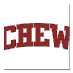 "CHEW Design Square Car Magnet 3"" x 3"""