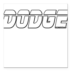 "Dodge Square Car Magnet 3"" x 3"""
