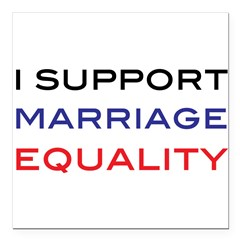 "marriage Square Car Magnet 3"" x 3"""