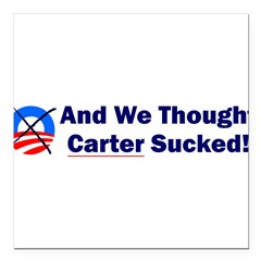 "Anti-Obama Square Car Magnet 3"" x 3"""