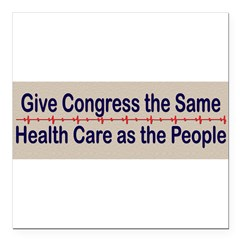 "Give Congress Healthcare Square Car Magnet 3"" x 3"""