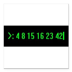"Numbers Square Car Magnet 3"" x 3"""