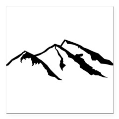 "Mountains Square Car Magnet 3"" x 3"""