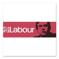 "Gordon Brown Labour Party Square Car Magnet 3"" x 3"""