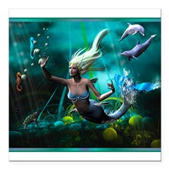 "Best Seller Merrow Mermaid Square Car Magnet 3"" x 3"""