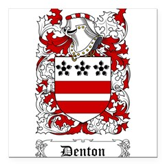 "Denton Square Car Magnet 3"" x 3"""