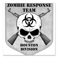 "Zombie Response Team: Houston Division Square Car Magnet 3"" x 3"""
