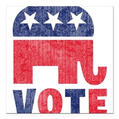 "Republican Vote 2 Square Car Magnet 3"" x 3"""