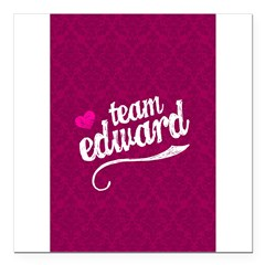 "Team Edward Square Car Magnet 3"" x 3"""