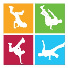 "Nice various breakdancing Square Car Magnet 3"" x 3"""