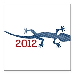 "Newt 2012 Drawing Square Car Magnet 3"" x 3"""