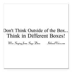 "Boxes Square Car Magnet 3"" x 3"""