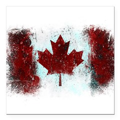 "Canadian Graffiti Square Car Magnet 3"" x 3"""