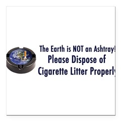 "ashtray2 Square Car Magnet 3"" x 3"""