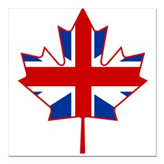 "UK Maple Square Car Magnet 3"" x 3"""