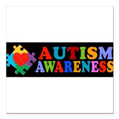 "Autism Awareness Square Car Magnet 3"" x 3"""