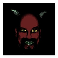 "Devil Square Car Magnet 3"" x 3"""