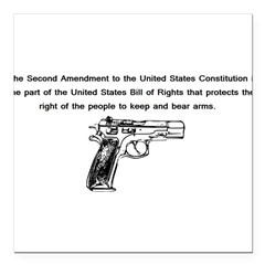 "The Second Amendment Square Car Magnet 3"" x 3"""