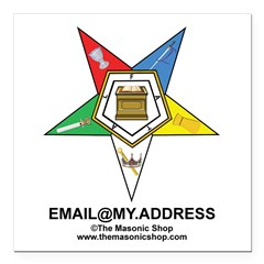 "CUSTOM OES EMAIL Square Car Magnet 3"" x 3"""