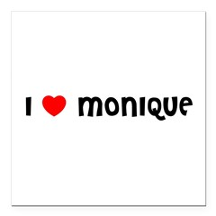 "I LOVE MONIQUE Square Car Magnet 3"" x 3"""