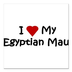 "Egyptian Mau Square Car Magnet 3"" x 3"""
