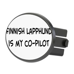 Co-pilot: Finnish Lapphund Oval Hitch Cover