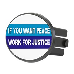 peace justice... Oval Hitch Cover