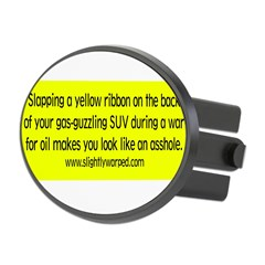 Yellow Ribbon Oval Hitch Cover