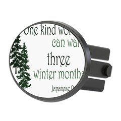 Kind Word Oval Hitch Cover