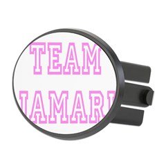 Pink team Jamari Oval Hitch Cover