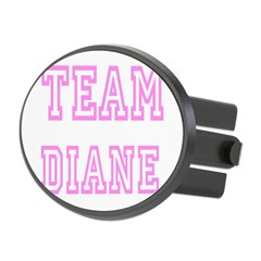 Pink team Diane Oval Hitch Cover