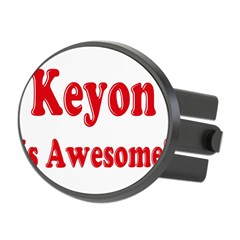 Keyon is Awesome Oval Hitch Cover