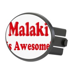 Malaki is Awesome Oval Hitch Cover