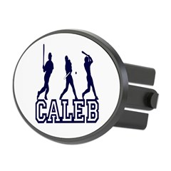 Baseball Caleb Personalized Oval Hitch Cover