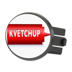 Kvetchup Oval Hitch Cover