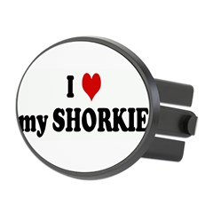 I Love my SHORKIE Oval Hitch Cover