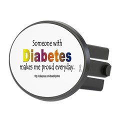 Diabetes Pride Oval Hitch Cover