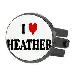 I Love HEATHER Oval Hitch Cover